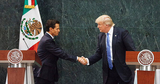 Trump and Pena Nieto